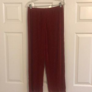 Chico's Travelers Classic Rust Slinky Pants 1 Med
